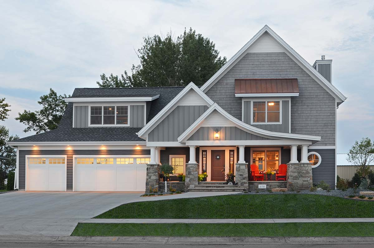 Elegant cape cod radiant homes building homes of for Home builders fargo nd