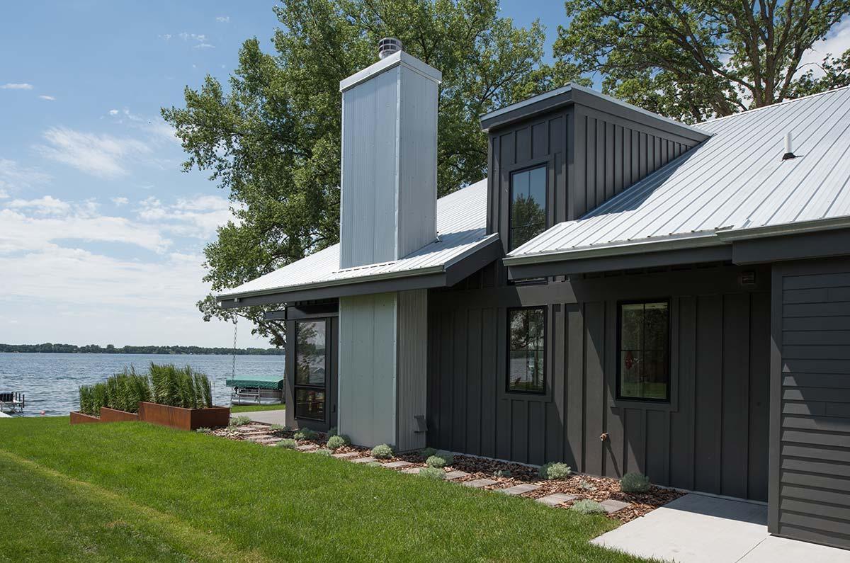 Modern lake cottage radiant homes building homes of - Best home builder website design ...