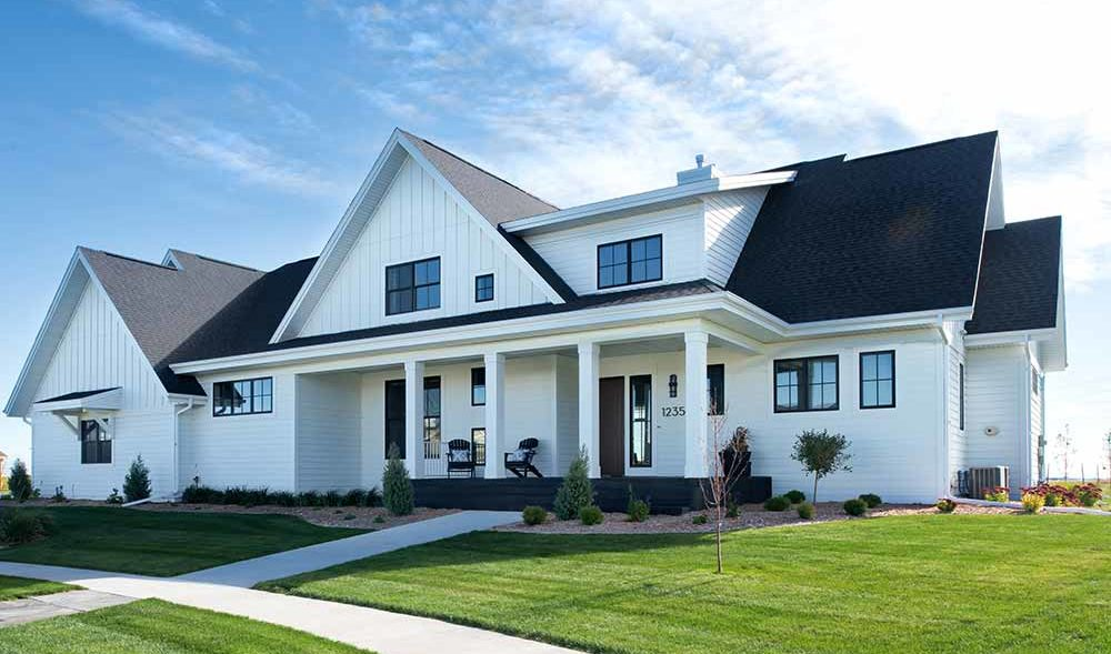 Stately Transitional million dollar custom home built by Radiant Fargo, ND
