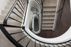 Winding Staircase in Custom Home in Fargo, ND built by Radiant Homes