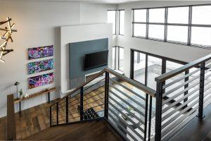 Large Windows in Open Floor Plan of Custom Home