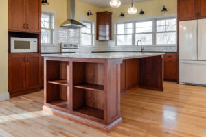 Custom Kitchen island with end storage