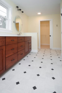 Custom bathroom built by Radiant Homes
