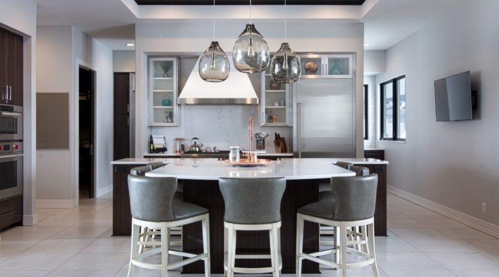 Fargo, ND Home Builder Custom Grey Kitchen