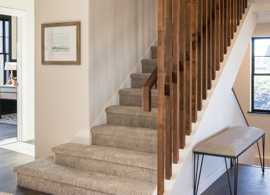 Wooden Spindles Staircase Partition in Radiant Homes Fargo, ND