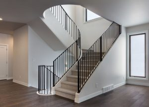 Spiral Staircase in Custom Home