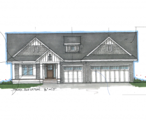 Drawing of Marigold Home built built by Radiant Homes in Fargo, ND