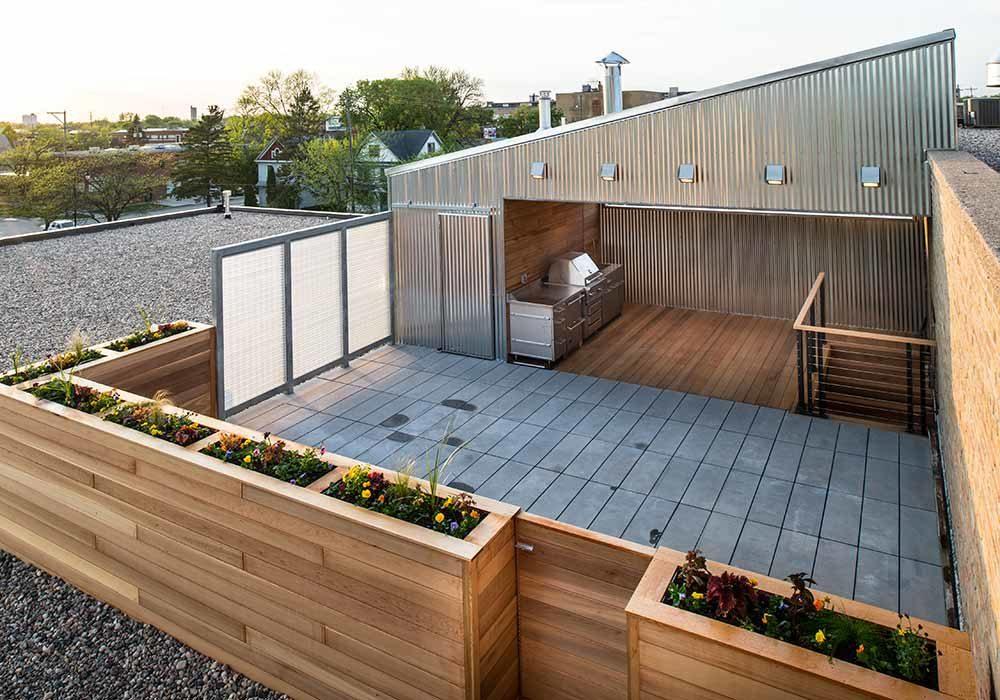 Custom Home Rooftop Patio Fargo, ND