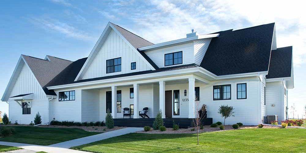 Stately Transitional million dollar custom home built by Radiant Fargo, ND